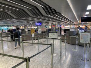 台湾桃園空港の様子